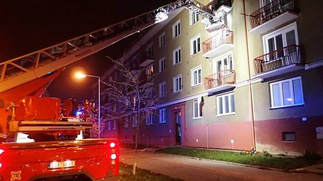 Hasiči zasahovali u výbuchu plynu v Příbrami.