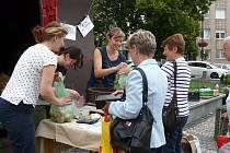 HITEM trhů byly brambory z farmy z Nedrahovic. Byl o ně obrovský zájem.