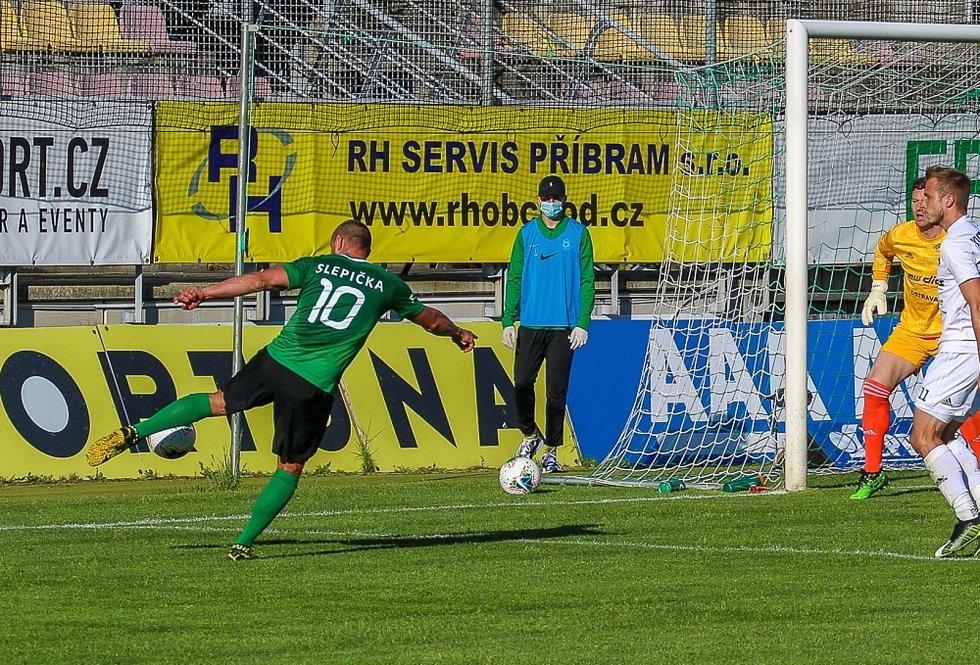 Zápas 25. kola FORTUNA:LIGY Příbram - Ostrava 0:0. Foto: 1. FK Příbram