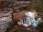 Odpadky v CHKO Brdy - Beran.