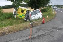 Z dopravní nehody v katastru obce Příbram 22. června 2021.