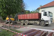 Uzavřená část Balbínovy ulice v Příbrami.