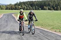Cyklostezka mezi Příbrami a Bohutínem.