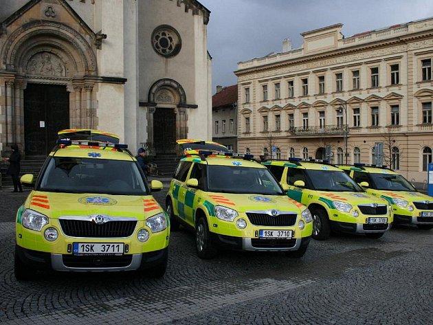 Nové sanitní vozy Škoda Yeti.