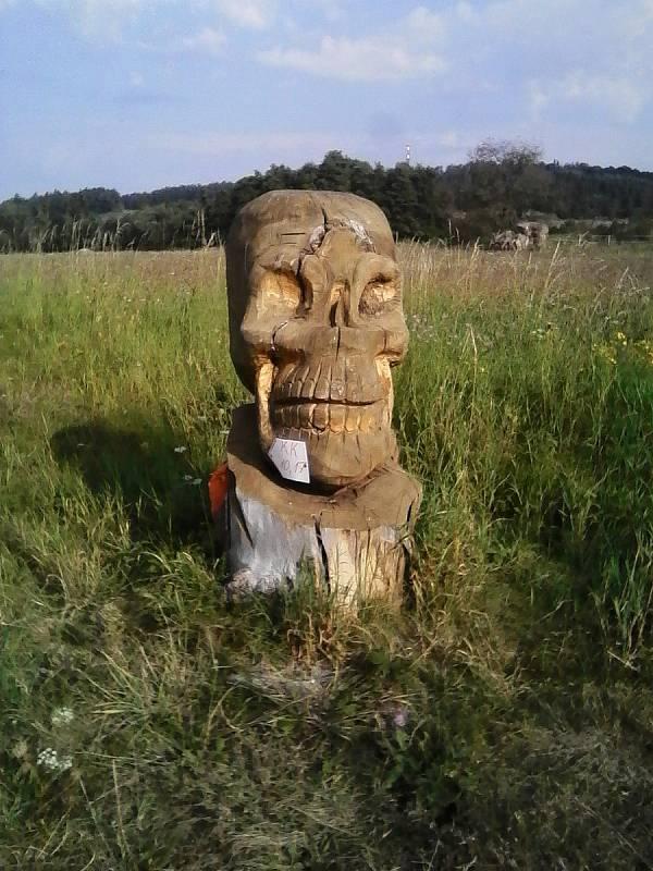 Zajímavá dřevěná skulptura.