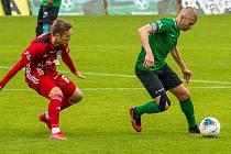 Ze zápasu Příbram - Olomouc ze sezony 2019/2020
