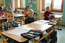 Prvňáci ze základní školy Suchodol