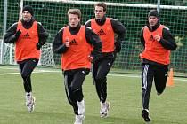 První trénink 1.FK Příbram v zimní přípravě 2013.