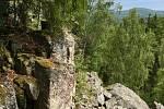 Kamenné moře pod Jindřichovou skálou v Brdech.