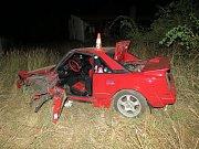 Řidič se pokoušel vyhnout lesní zvěři u Nové Vsi pod Pleší. Škoda 60 tisíc korun.