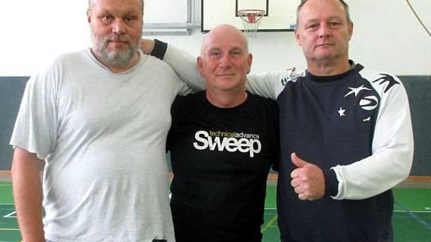 Halíř Malešice: (zleva) Tomáš Nový, Aleš Mucha a Martin Svoboda.