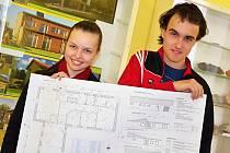 Aneta Junková a Martin Kloud měli na tvorbu výkresu jen tři hodiny.