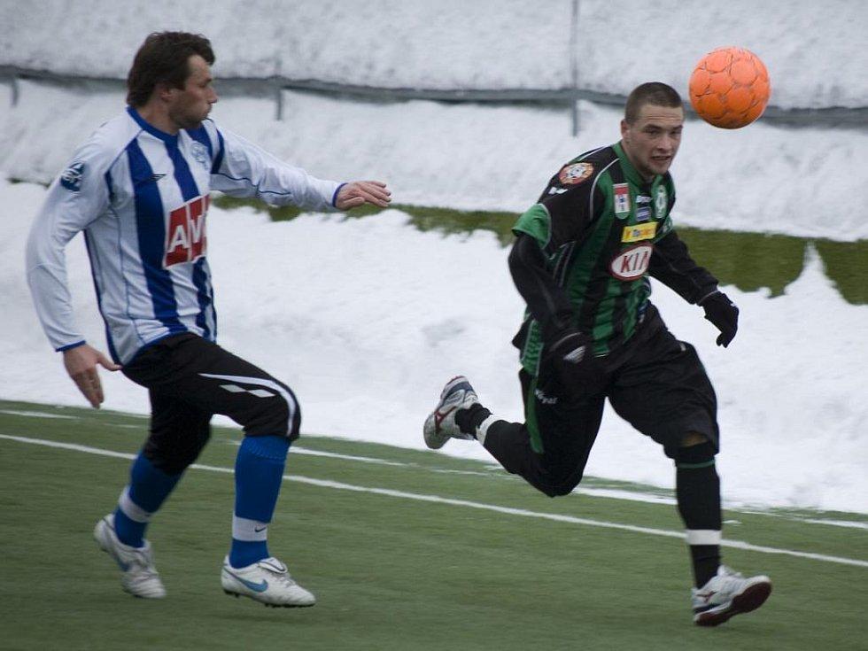 Přípravný fotbal: Příbram - Čáslav (0:1).