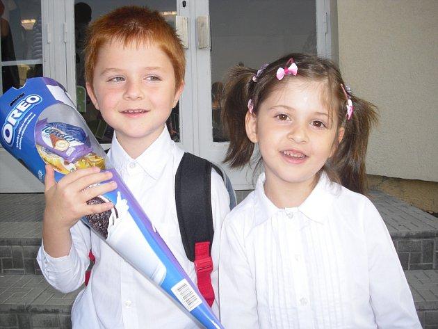 První školní den v základní škole ve Školní ulici.