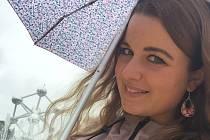 Alena Machová při studijním pobytu v Bruselu.