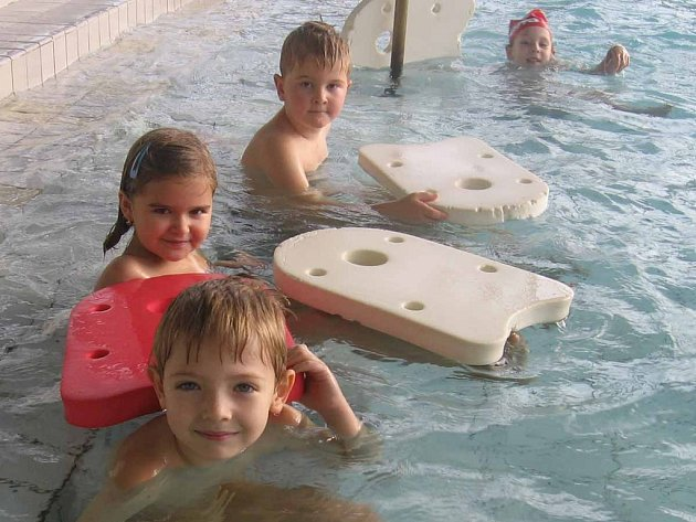Plavání v příbramském aquaparku.