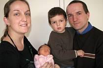V pátek 13. března přivedli maminka Sandra a tatínek Roman z Mníšku pod Brdy na svět dcerku Klárku Kočovou, která má ze dne narození u jména zapsánu váhu 3.34 kg a míru 50 cm. Sestřičku bude spolu s rodiči ochraňovat také tříletý bráška Patrik.