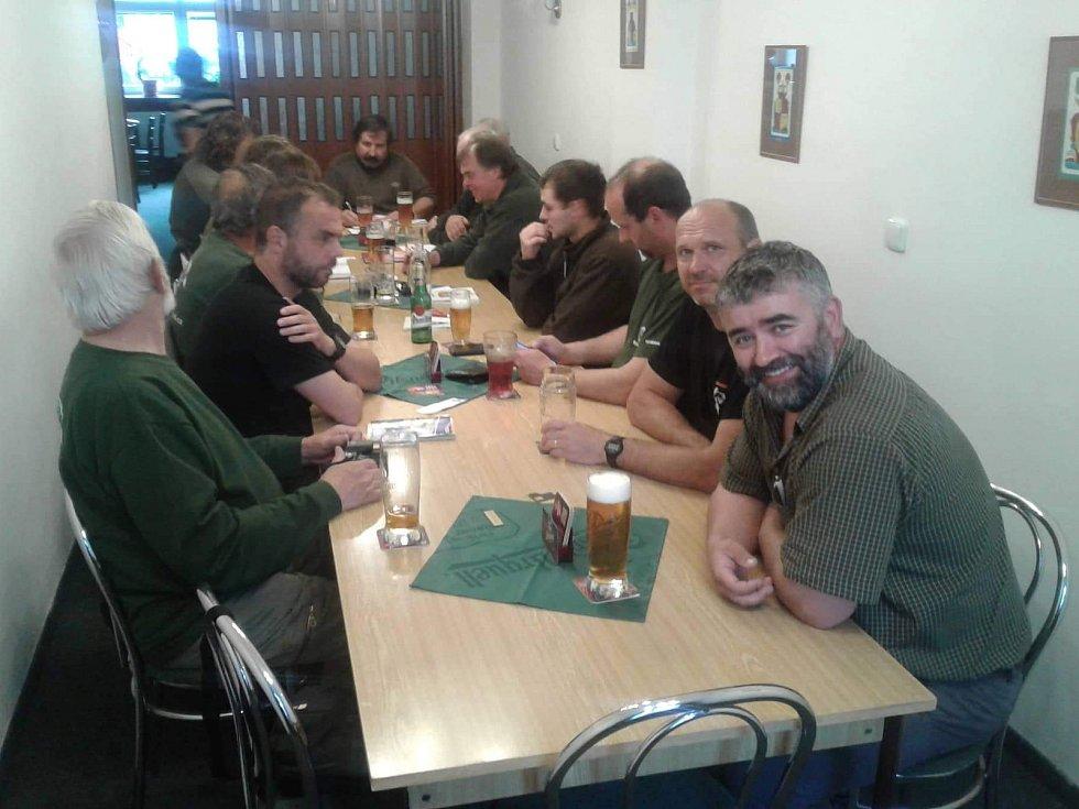 Školení členů rybářské stráže v Rožmitále pod Třemšínem.