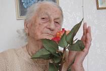 Anna Beranová z Březnice den před 100. narozeninami.