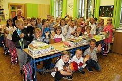 Žáci 1. A ze ZŠ Jiráskovy sady v Příbrami pod vedením učitelky Radoslavy Kybikásové.