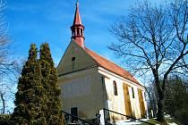 Kostel Povýšení sv. Kříže v Dobříši, jedna z prvních staveb připomínající vznik Dobříše.