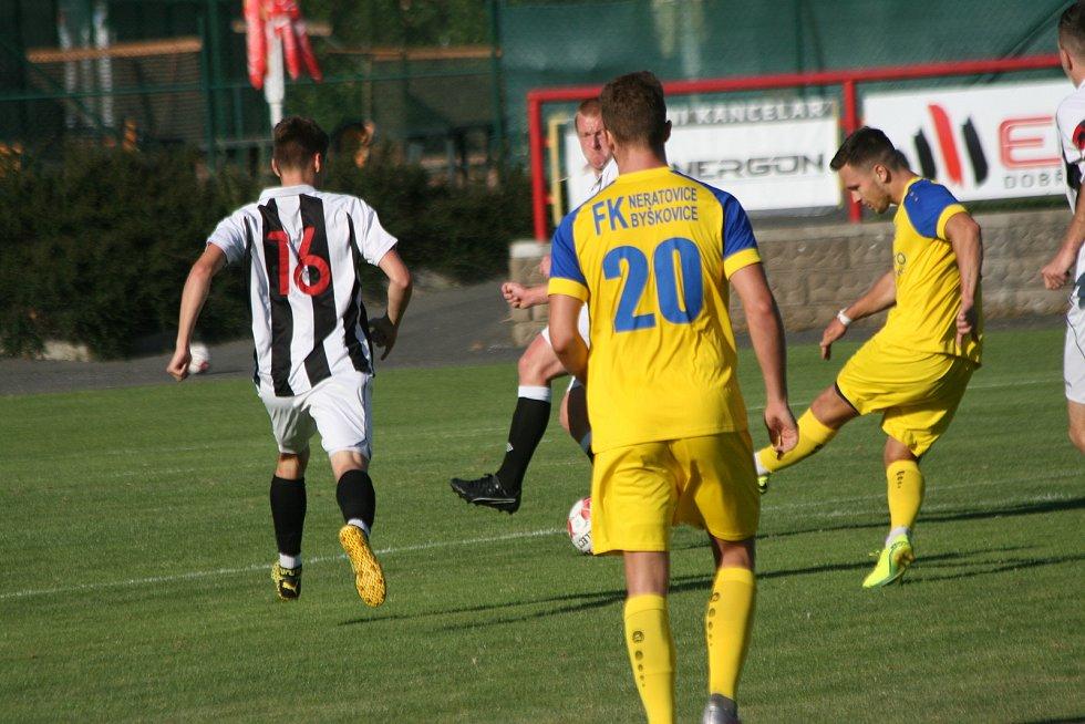 Divize B MFK Dobříš - FK Neratovice-Byškovice 0:1.