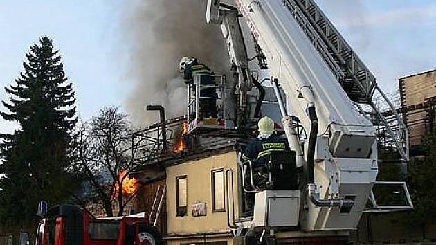 Páteční požár v Příbrami.