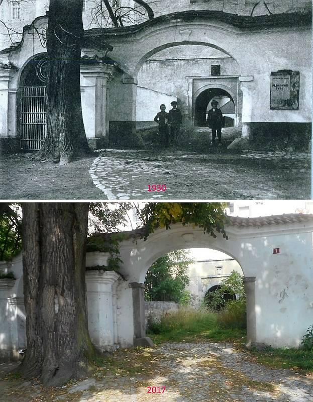 Rožmitál pod Třemšínem - Vchod do zámku ještě z doby, kdy byl skutečně vchodem.