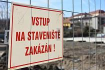 Výstavba přestupního terminálu v Sedlčanech.