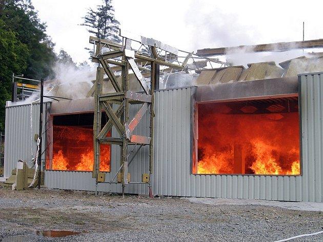 Požární zkouška v Mokrsku