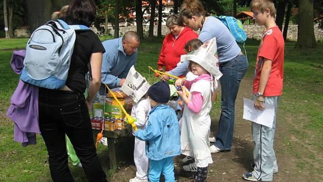 Dětský den v parku v Březnici.