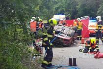 Nehoda dvou osobních vozidel uzavřela dálnici D4 ve směru na Příbram u Jíloviště u Prahy.