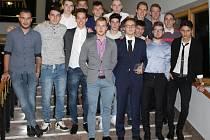 Fotbalisté 1.FK Příbram U19 - vítězové ankety v kategorii kolektivů nad 18 let.