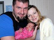 JULIE PIKARDOVÁ spatřila prvně světlo světa v úterý 10. ledna o váze 3,10 kg a míře 49 cm. Maminka Eva a tatínek Tomáš si svoje první štěstí odvezou domů do Drhov.