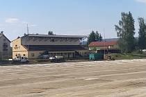 Fotbalový stadion v Rožmitále pod Třemšínem v rekonstrukci.
