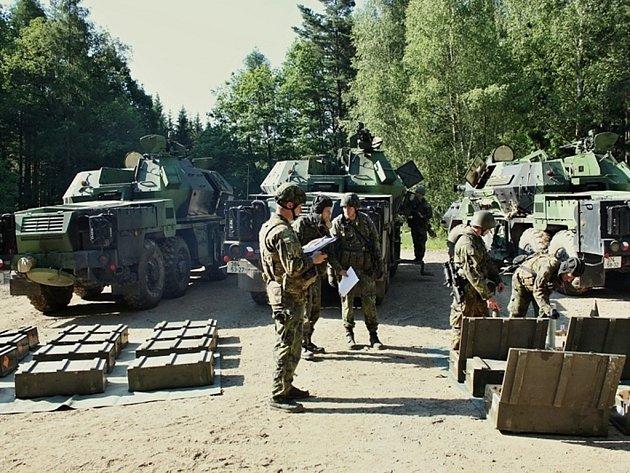 Příprava a přerozdělení munice do jednotlivých děl.