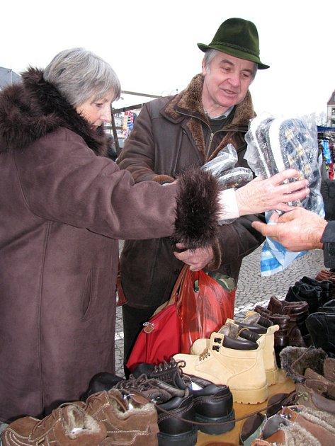 Středeční trh na náměstí TGM v Příbrami