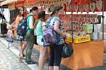 Skalecká pouť není jen jarmark a atrakce, konaly se také mše, procesí a kulturní vystoupení na Skalce.