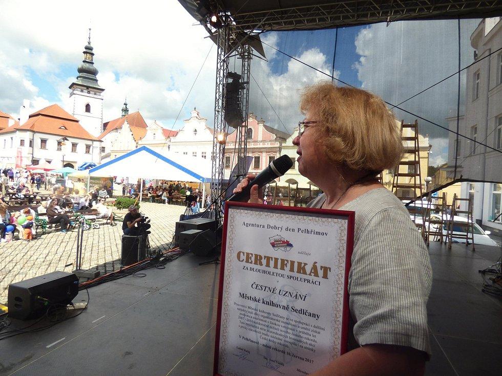 Sedlčanští si odváželi z města rekordů certifikát.