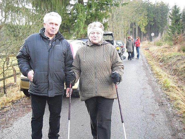 Turisté Honta a Eva z Budislavic u Plzně