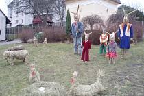 Velikonoční náves v Čenkově.