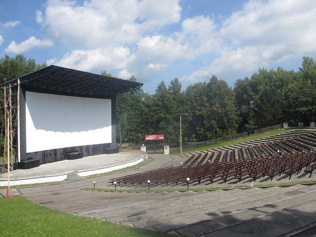Letní kino v Příbrami.