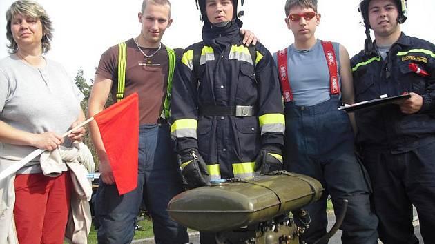 Soutěž mladých hasičů v SOŠ a SOU Dubno.