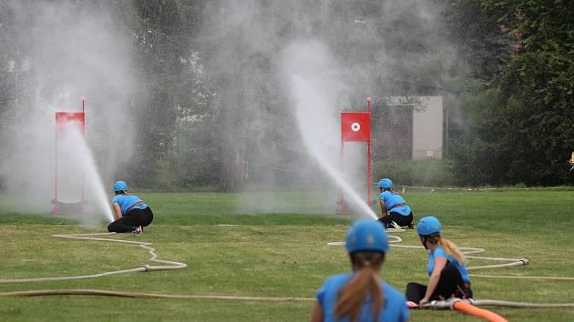Prostor mezi potokem Mastník a Luční ulicí v Sedlčanech využívají také pořadatelé soutěží v požárním sportu.