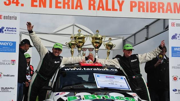 Vítězové 34. Enteria Rally Příbram - Tarabus a Trunkát.