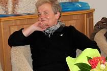 Dana Drábová na návštěvě v Milíně na radnici.