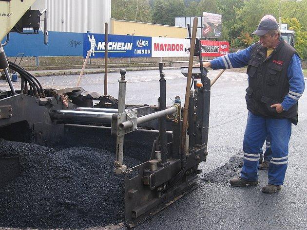 Rekonstrukce parkoviště u zimního stadionu v Příbrami