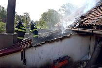 Požár v Osečanech.