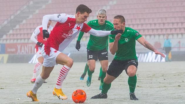 Duel 18. kola FORTUNA:LIGY mezi 1. FK Příbram a SK Slavia Praha se hrál na velmi těžkém terénu.