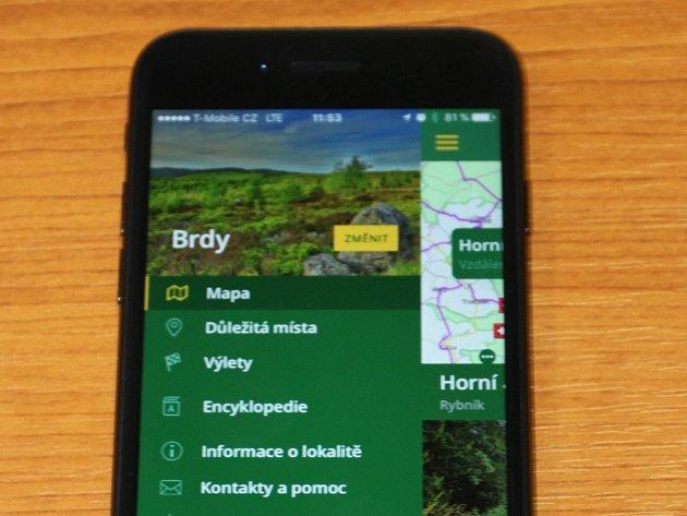 Aplikace Brdy.